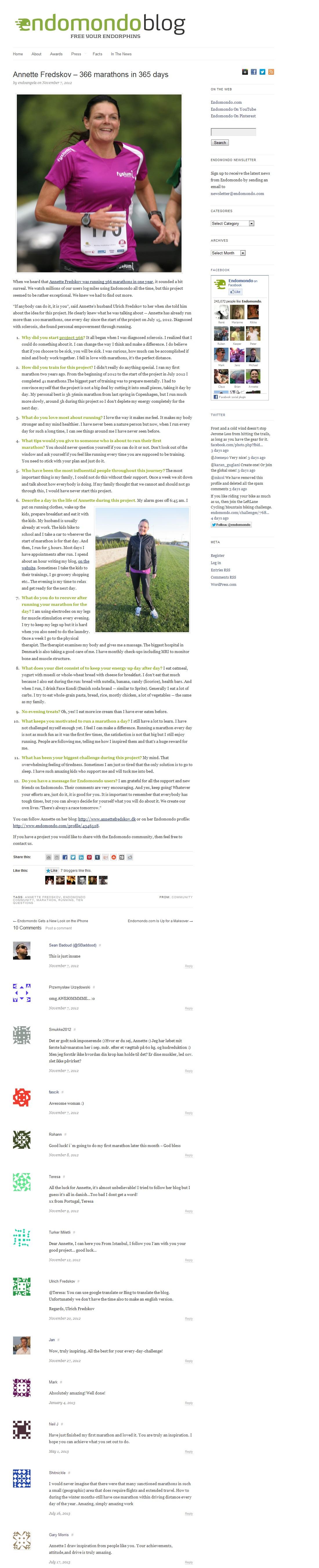 Endomondo - Blog 2012.11.07 2