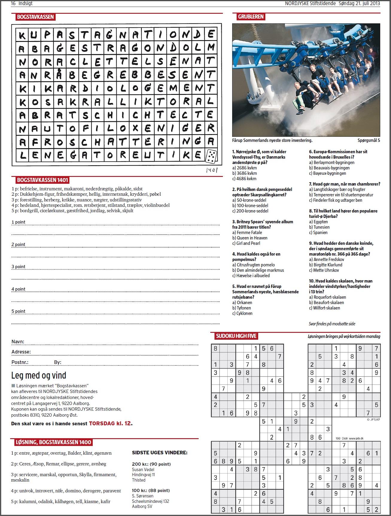 Nordjyske Stiftstidende 2013.07.21