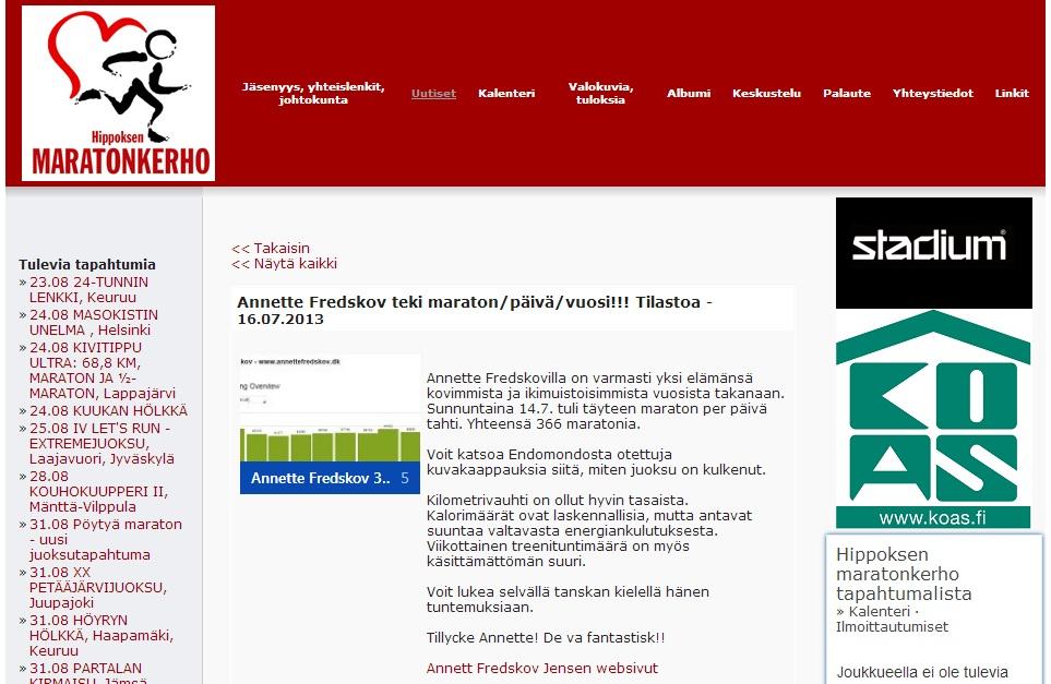 maratonkerho.fi 2013.07.16 finsk