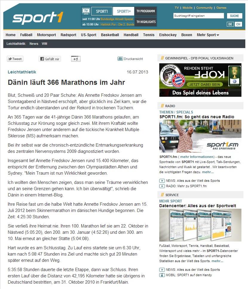 sport1.de 2013.07.16 tysk