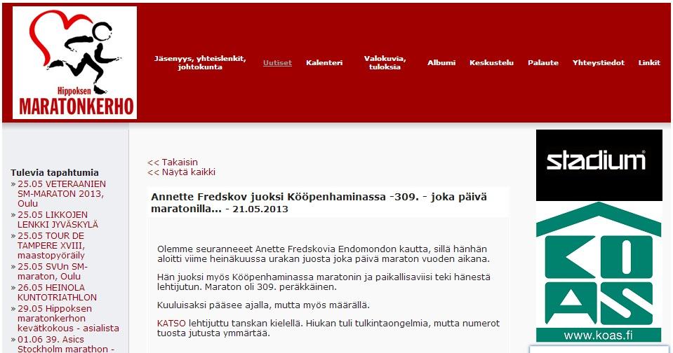 www.maratonkerho.fi 2013.05.21 finsk