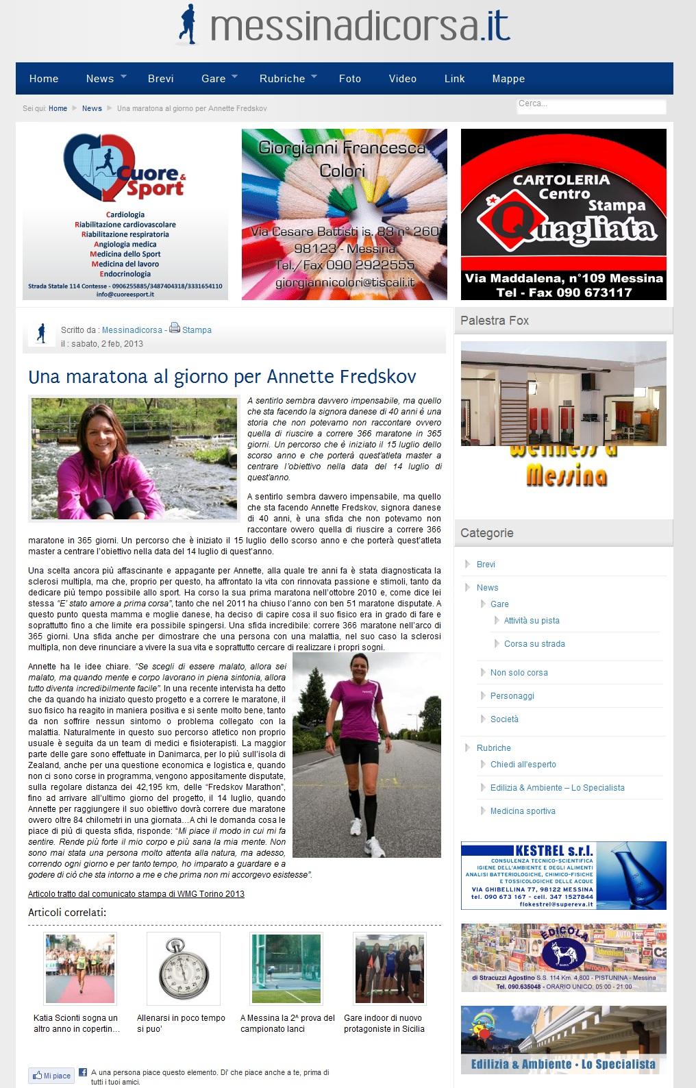 www.messinadicorsa.it 2013.02.02 italiensk