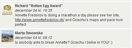 Challenge 2013.01.01 - Running Rotten Egg Award December (Most km - Running) - Comments