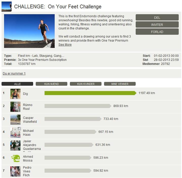 Challenge 2013.02.28 - On Your Feet Challenge