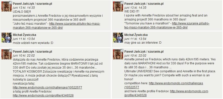 Challenge 2013.06.30 - szuranie.pl - czerwiec 2013 - kto uszura najwięcej km - Comments