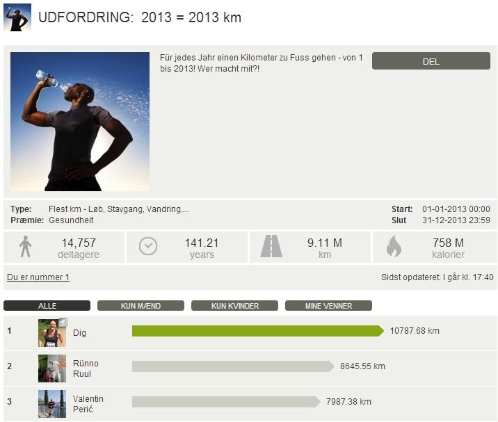 Challenge 2013.12.31 - 2013 = 2013 km
