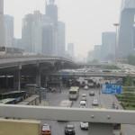 Masser af biler og masser af smog