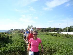 Ikke gåsegang men gåseløb med Henriette Lisse i front
