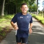 Hans Jørgensen godt i gang med Fredskov Marathon