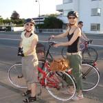 Mine gode veninder Ulrikke og Olivia fulgte mig 28 km :-)