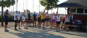 Skovshoved Havn - Klar til start en dejlig sommermorgen