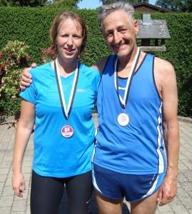 Debutant Christina Lagersted og Henning Baginski, som løb sit marathon nr. 75.