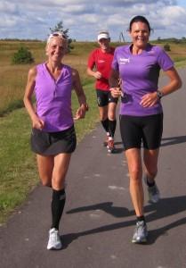 Super hyggeligt at følges med Birgitte Munch Nielsen. I baggrunden hendes far, Anders Munch Madsen.