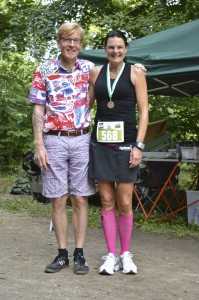 Arrangør af Fruens Bøge Marathon Kevin Vilhelmsen og Annette Fredskov. Foto: Bent Ole Karlsson