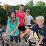 Emilie og Viktor cyklede med de første 21 km og min veninde Helle Clausen resten af turen.