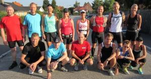 Klar til start kl. 8 til Fredskov Marathon i Næstved en varm sommerdag