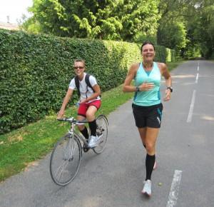 Jeg havde godt selskab af Helle, som har cyklet med før. Super dejligt.