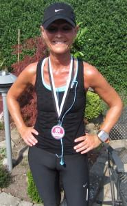 Pia Skøtt debuterede på marathondistancen. Stort tillykke. Super flot at debutere på en kuperet rute en varm sommerdag :-)