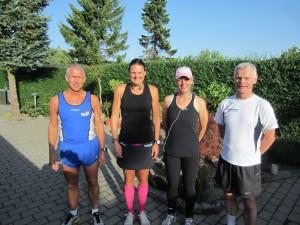 Steen Jørgensen, Annette Fredskov, Maria Weisbjerg, Preben Poulsen klar til Fredskov Marathon, Løb nr. 37 - 366/365