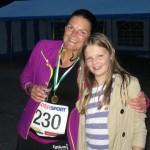 Glad i mål efter 42,2 km sammen med min skønne datter