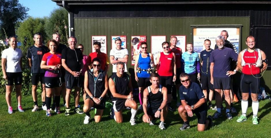 Klar til Damhus Cannonball Marathons i solskinsvejr på den første efterårsdag