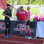 Derefter var det Anders og Birgittes tur til interview i anledning af, at de har løbet 200 marathon sammen.