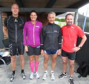 Startfeltet til mit løb nr. 50 i 366/365. Søren Boserup, Annette Fredskov, Henning Baginski, Lars Jensen