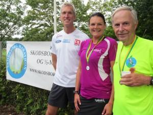 Løbsarrangør Jerk W. Langer, Annette Fredskov og Erhard Filtenborg