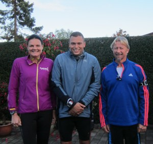 Tre til start og endnu et officielt Fredskov Marathon. Annette Fredskov, Anders Risager, Tony Gren