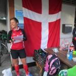 Arrangør Henriette Lisse bød velkommen til Ø-Marathon - Berlin Nein Danke.
