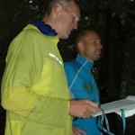Skodsborg Marathons vellidte arrangører Jerk W. Langer og Morten Walter byder velkommen. Foto: Karen Lyager Horve