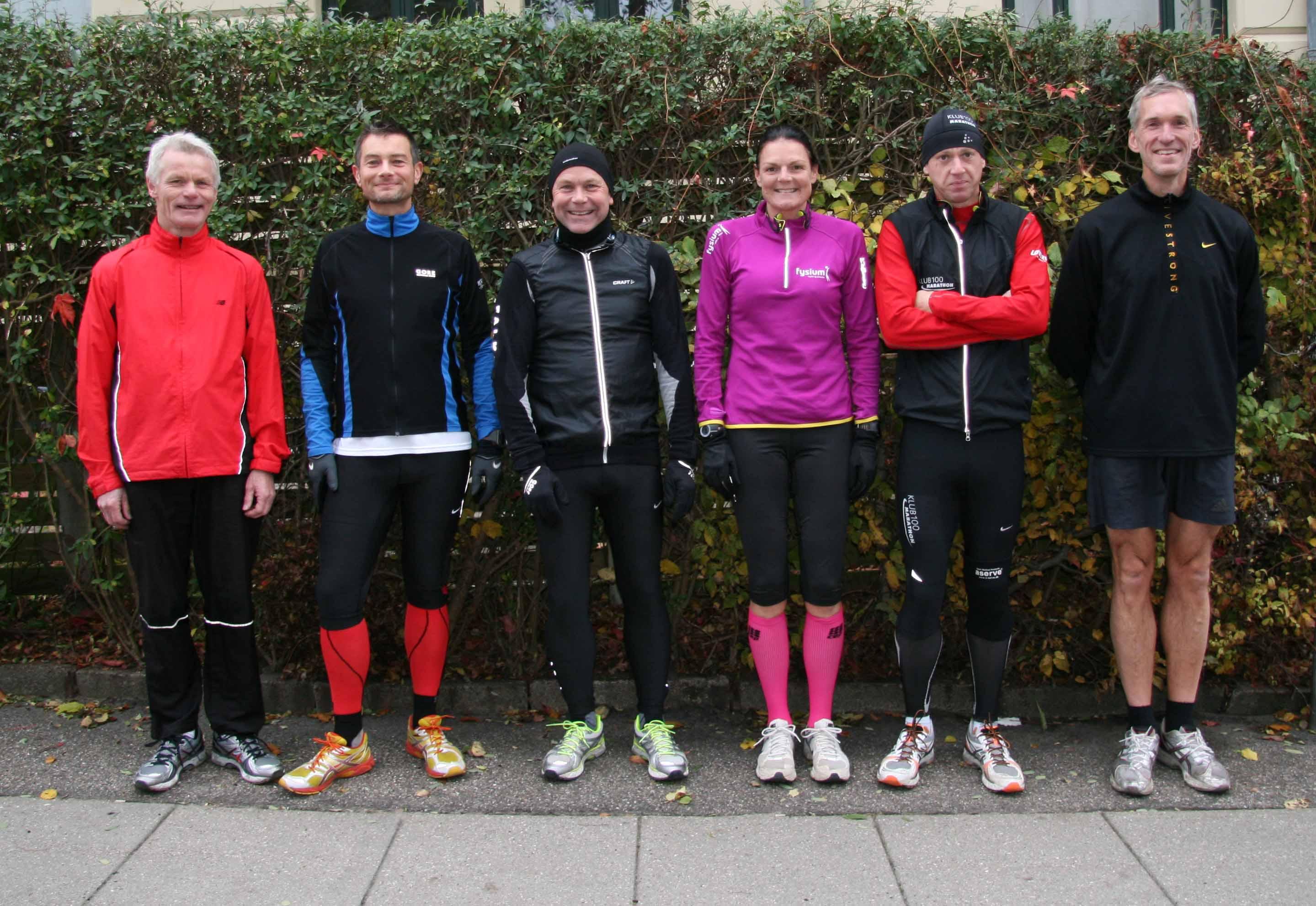 Endnu engang klar til Fredskov Marathon i København - Alle gengangere på ruten. Preben Poulsen, Henrik Hoplarik Franijeur, Carsten Dahl, Annette Fredskov, Rene Hjorth Olsen, Jerk W. Langer