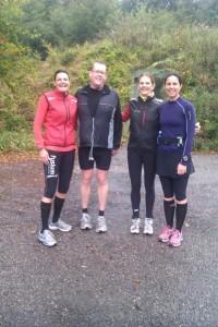 Annette Fredskov, Jakob Lagersted, Maj-Britt Filsø Mathiassen, Graziella Sharifpour. Fredskov Marathon, Løb nr. 80 - 366/365, Indtil videre mit marathon nr. 121 i 2012.
