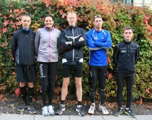 Fem friske til fredskov Marathon på en fredag i københavn. Carsten Jensen, Annette Fredskov, Brian Greve-Rasmussen, Rene Hjorth Olsen, Karsten Waldorff Nielsen