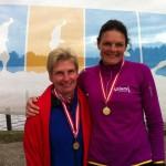 Lene Bruun og jeg løb sammen i går og i dag. Tak for hyggeligt selskab og tillykke med dubletten :-)