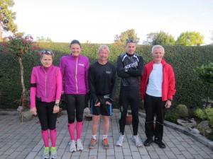 Klar til at indvie den nye rute. Malene Ravn, Annette Fredskov, Tony Gren, Rene Hjorth Olsen, Preben Poulsen