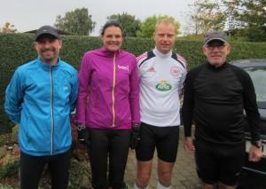 Sidste Fredskov Marathon i Næstved i denne uge. Lars Jensen, Annette Fredskov, Nicholas Felten, Peder Gram