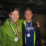 Tonni og Mark glade i mål efter 42,2 km :-)