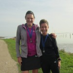 Marathonpigerne Annette Fredskov og Henriette Lisse. Tak for i dag :-)