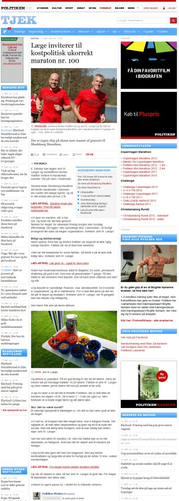 Politiken - Tjek - 14. september 2012
