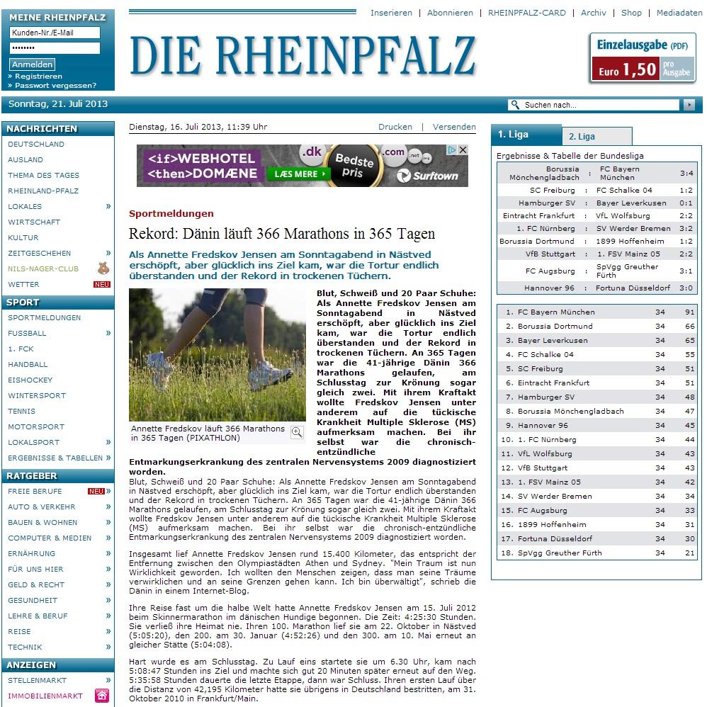 rheinpfalz.de 2013.07.16 tysk