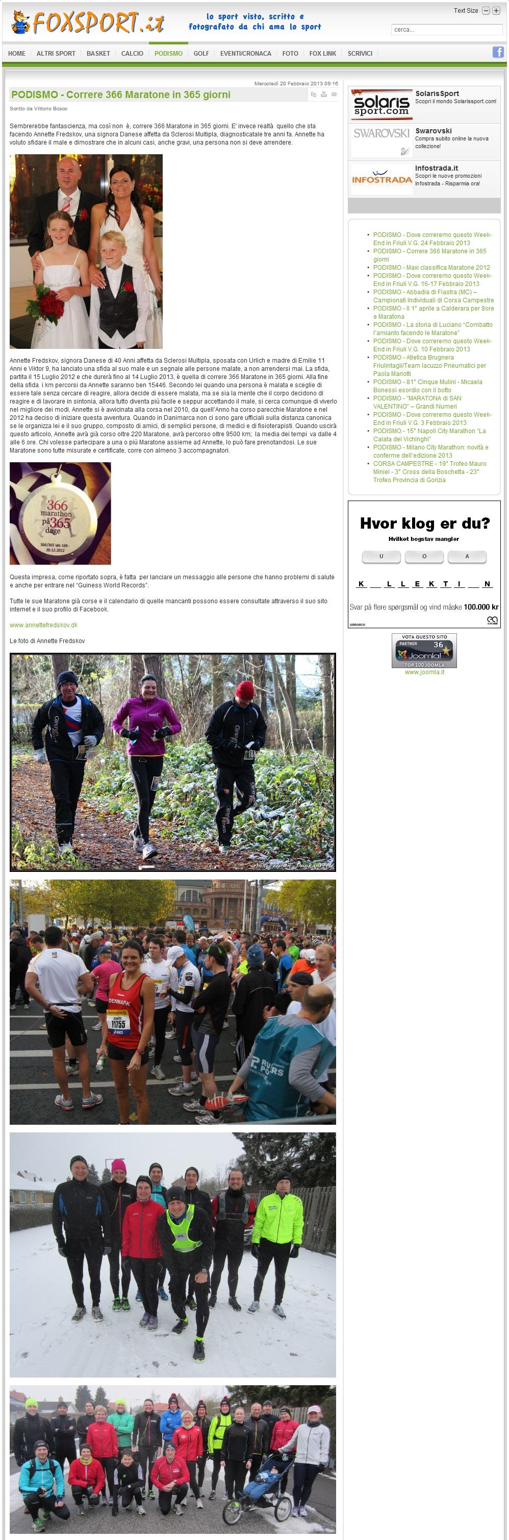 www.foxsport.it 2013.02.20