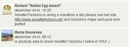 Challenge 2013.01.01 - Running Rotten Egg Award December (Most km - Running) - Comments