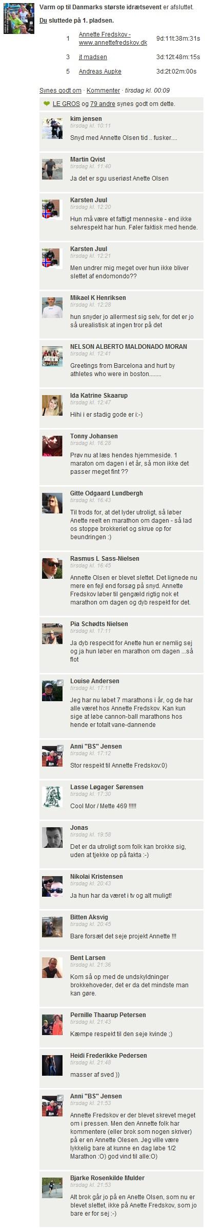 Challenge 2013.04.15 - Varm op til Danmarks største idrætsevent - Comments 2