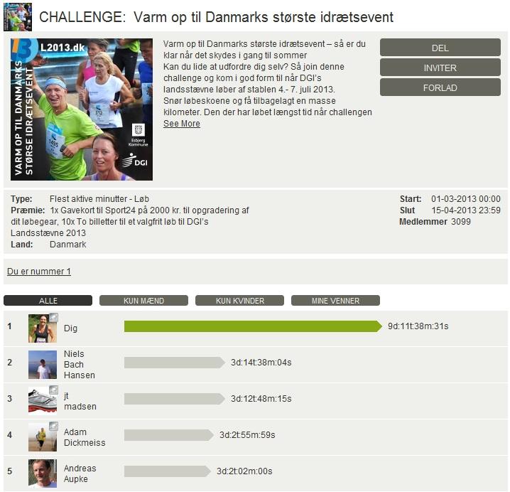 Challenge 2013.04.15 - Varm op til Danmarks største idrætsevent