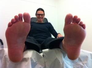 Mine fødder er glade efter en behandling hos fodterapeut Malene Schmøde, www.mobil-fodklinik.dk