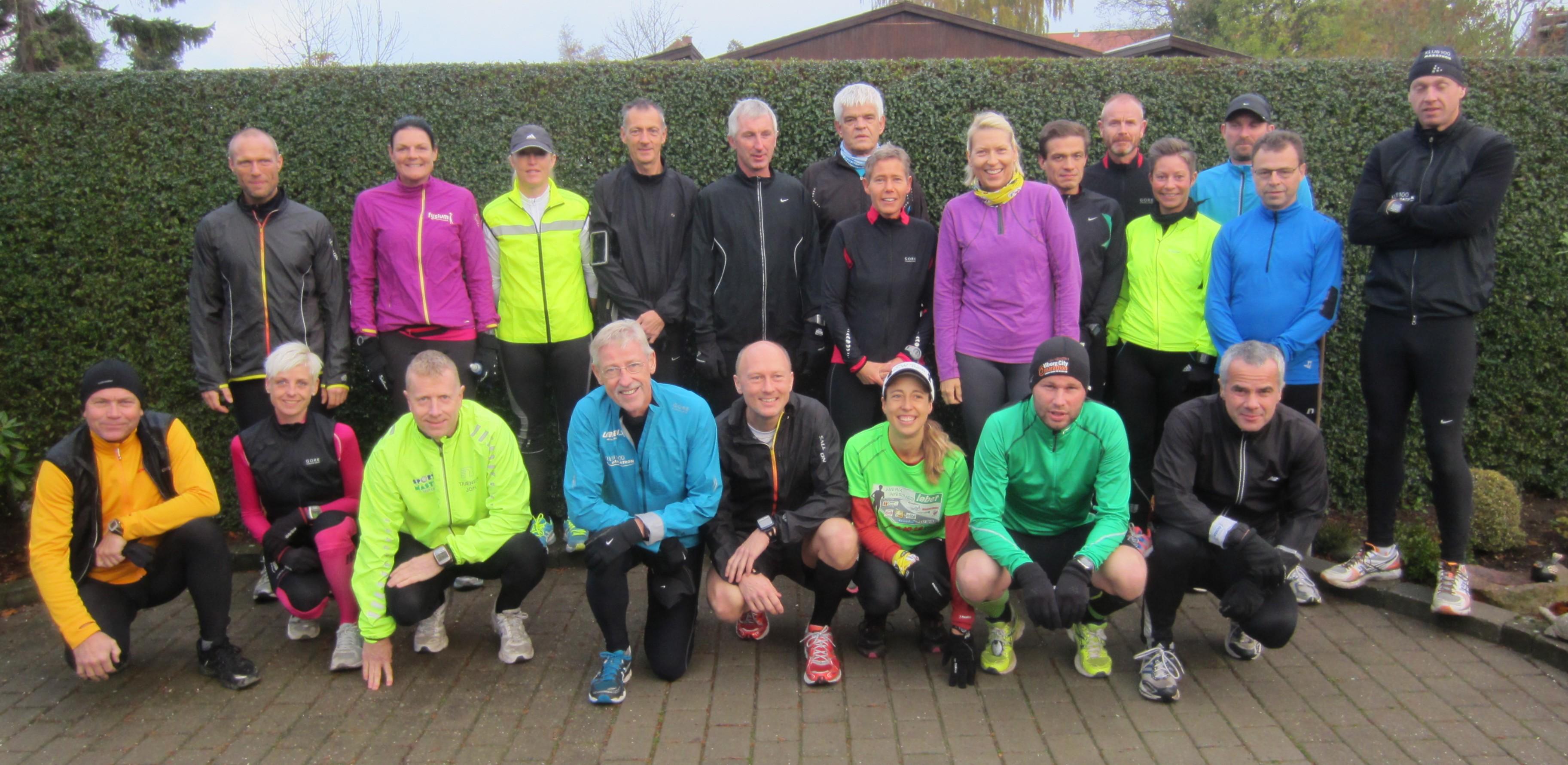 22 deltagere til start. Det største antal deltagere til Fredskov Marathon