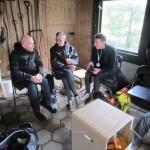 Dejligt at sidde ned efter 42,2 km på benene. Carsten Dahl, Carsten Jensen, Rene Hjorth Olsen
