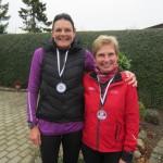 Så kom pigerne i mål :-) Annette Fredskov og Lene Bruun