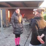Inden løbet blev jeg interviewet af Kitt Kragelund fra Scleroseforeningen